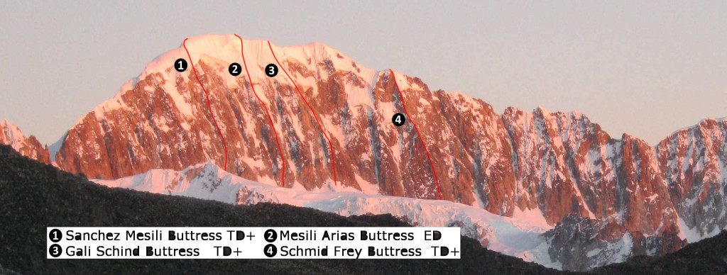 Illampu east face routes new